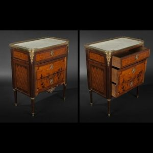 Expertissim - petite commode d'�poque louis xvi - Commodine