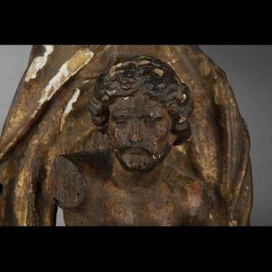 Expertissim - sculpture en tilleul le baptême du christ, fin du  - Sculpture