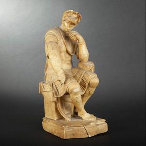 Expertissim - statue de laurent de médicis en cire d'après mich - Sculpture