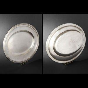Expertissim - plat et corbeille en métal argenté - Assiette À Pain