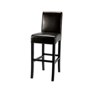 DECO PRIVE - chaise de bar en by cast marron fonce - Chaise Haute De Bar