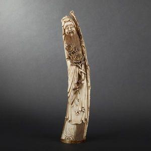 Expertissim - statuette de personnage en ivoire, xxe siècle - Sculpture
