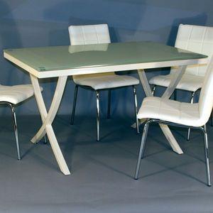 Smart Boutique Design - table en verre calice - Table De Repas Rectangulaire