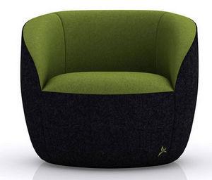 GREEN SOFA - anthracite vert - Fauteuil Bas
