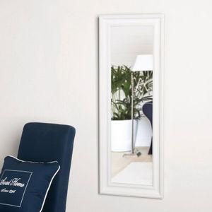 Maisons du monde - miroir elianne blanc 44x124 - Miroir