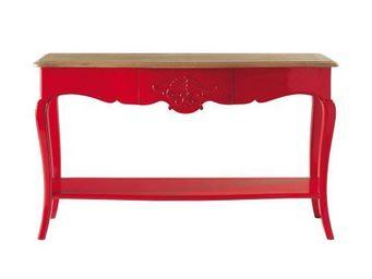 Maisons du monde - console rouge haute couture - Console