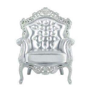 Maisons du monde - fauteuil argent barocco - Fauteuil