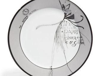Maisons du monde - assiette plate haute couture grise - Assiette Plate