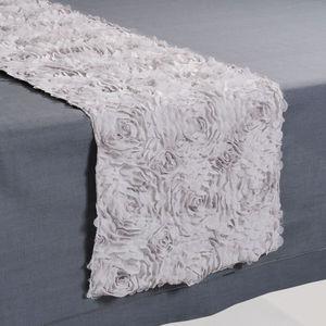 MAISONS DU MONDE - chemin de table lise gris - Chemin De Table