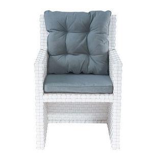 MAISONS DU MONDE - fauteuil blanc square garden - Fauteuil
