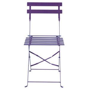 Maisons du monde - lot de 2 chaises violettes confetti - Chaise De Jardin