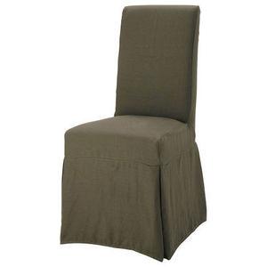 Maisons du monde - housse lin marron glacé margaux - Chaise