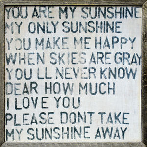 Sugarboo Designs - art print - you are my sunshine - Tableau D�coratif