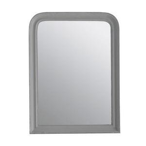 Maisons du monde - miroir elianne arrondi gris 60x80 - Miroir