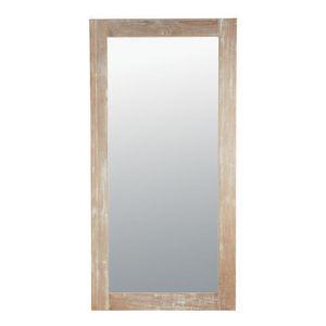 Maisons du monde - miroir natura cérusé 90x180 - Miroir
