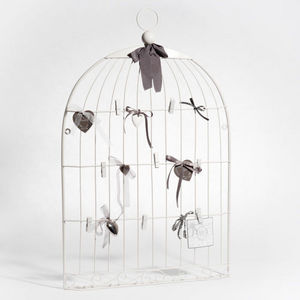 Maisons du monde - p�le-m�le cage oiseau blanc - P�le M�le