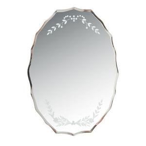 Maisons du monde - miroir ovale lafleur - Miroir