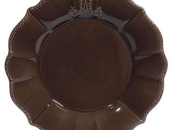 Maisons du monde - assiette plate marron bourgeoisie - Assiette Plate