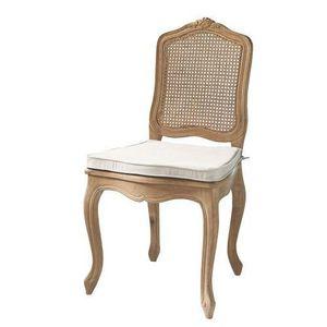 Maisons du monde - chaise cannée chêne vieilli gustavia - Chaise