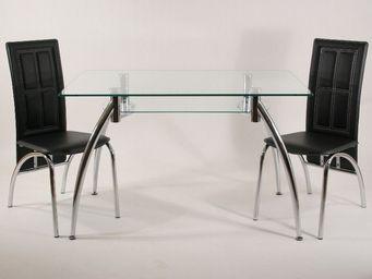 CLEAR SEAT - table en verre rectangle spider ii 120 x 75 cm ave - Table De Repas Rectangulaire