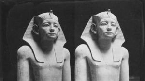 LINEATURE - le roi amenemhat iii, le caire, egypte - Photographie