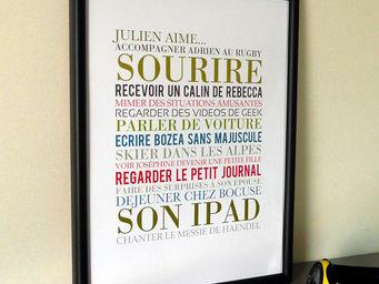 ICI LA TERRE - affiche personnalisée - Tableau Décoratif