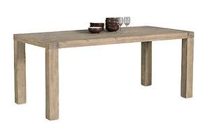 INWOOD - table en acacia nevada 160x90x77cm - Table De Repas Rectangulaire