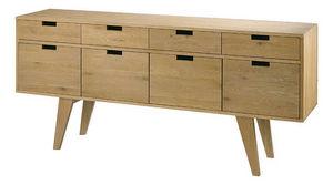 ZAGO - buffet 4 portes 4 tiroirs upper en chêne massif 18 - Console