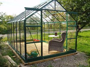 Chalet & Jardin - serre avec base 8,88m² en verre trempé et aluminiu - Serre