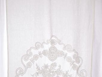 Coquecigrues - mini rideau castille ivoire - Rideaux Pr�ts � Poser