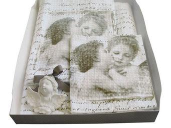 Mathilde M - coffret linge de toilette anges amoureux - Serviette De Toilette