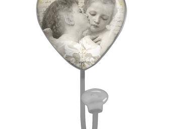 Mathilde M - crochet coeur anges amoureux - Patère