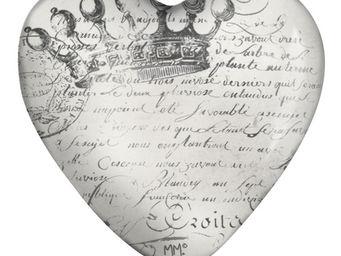 Mathilde M - sulfure coeur couronne - Presse Papier