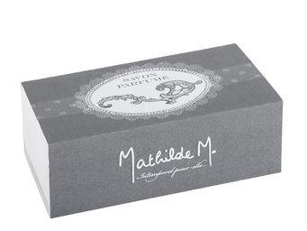 Mathilde M - boîte savon ovale arabesque, parfum marquise - Savon