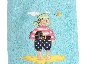 SIRETEX - SENSEI - drap de douche enfant 70x140cm brodé 500gr/m² pira - Serviette De Toilette Enfant