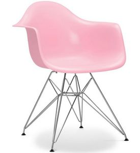 Charles & Ray Eames - chaise eiffel ar rose charles eames lot de 4 - Chaise R�ception