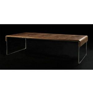 WHITE LABEL - table basse design hugh - Table Basse Rectangulaire