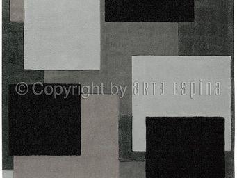 Arte Espina - tapis de salon reflective 6 gris 170x240 en acryli - Tapis Contemporain