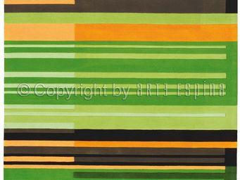 Arte Espina - tapis de petit tapis colour codes vert 90x160 en a - Tapis Contemporain