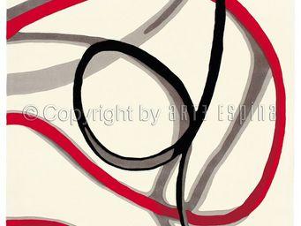 Arte Espina - tapis de chambre red trace 1 blanc 120x180 en acry - Tapis Contemporain