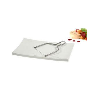 WHITE LABEL - plateau à foie gras en porcelaine et sa lyre - Plateau
