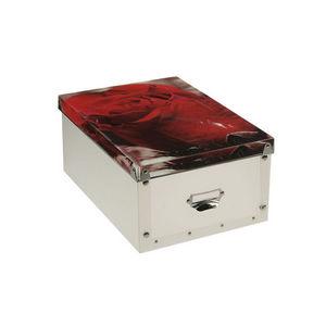 WHITE LABEL - boîte pliable zénitude motif glamour - Boite De Rangement