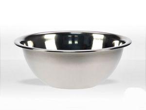WHITE LABEL - coupelle bol à rebord en inox - Bol Mélangeur