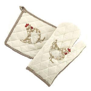WHITE LABEL - gant et manique cocotte en coton - Gants