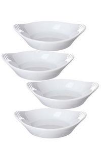 WHITE LABEL - ensemble de 4 minis plats en porcelaine - Poêlon