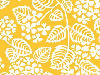 FLEUR DE SOLEIL - tissu hortensia jaune 160x160 - Tissu D'ameublement