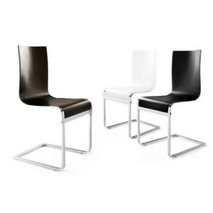 KOKOON DESIGN - chaises design bois et chrome lineo - Chaise
