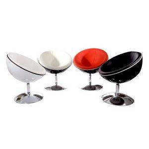 KOKOON DESIGN - fauteuil de salon design abs et métal chromé montr - Fauteuil Rotatif