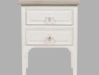 BLANC D'IVOIRE - charlie blanc antique - Table De Chevet
