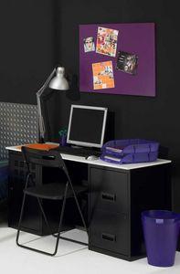 PHSA - bureau design en métal noir 130x50x68cm - Bureau